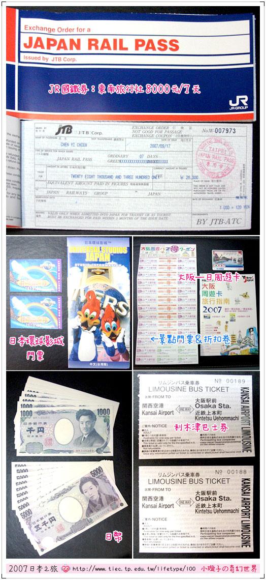 2007日本之旅-行前準備及計劃